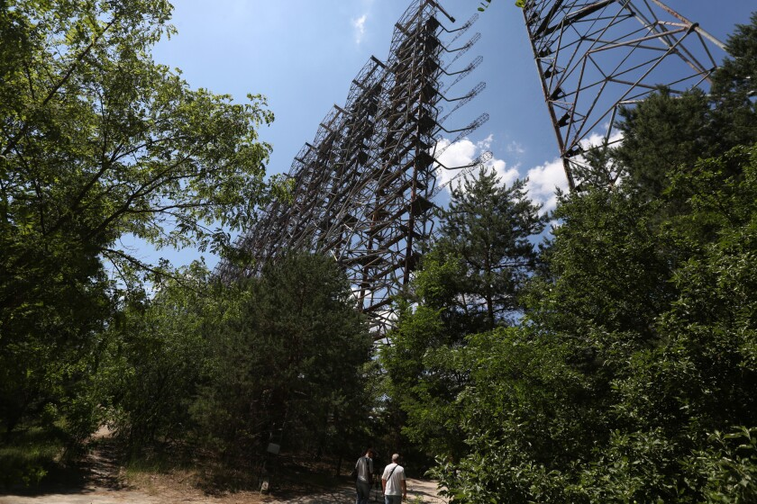 One of the major tourist attractions of the Chernobyl Exclusion Zone, the abandonedc Chernobyl Early