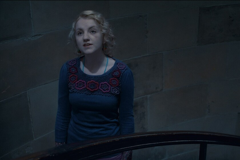 """J.K. Rowling's new protagonist is Newt Scamander, a magizoologist born in 1897. His grandson Rolf married character Luna Lovegood, played here by actress Evanna Lynch, in a scene from the final Harry Potter film, """"Harry Potter and the Deathly Hallows - Part 2."""""""