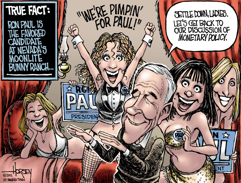 Ron Paul finds support at Moonlite Bunny Ranch