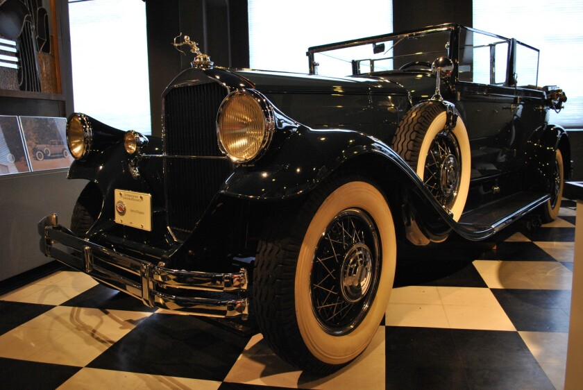 One of the cars on display at the Kimball Classic Car Museum at Ogden's Union Station.