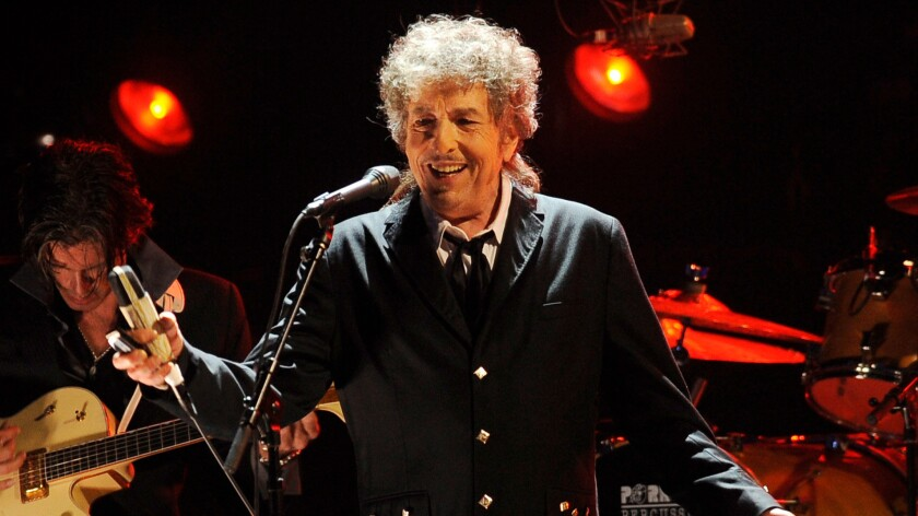 Bob Dylan onstage in L.A. in 2012