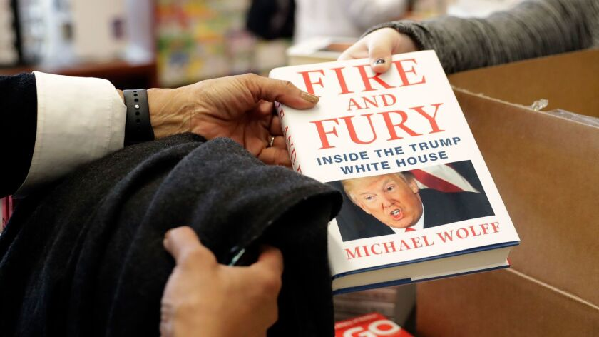 """Another copy of the book """"Fire and Fury: Inside the Trump White House"""" by Michael Wolff is sold at Barbara's Books Store in Chicago on Jan. 5."""