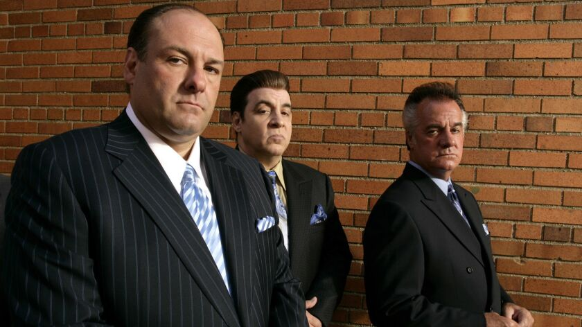 This 2007 photo, supplied by HBO, shows James Gandolfini, left, Steven Van Zandt and Tony Sirico, ri