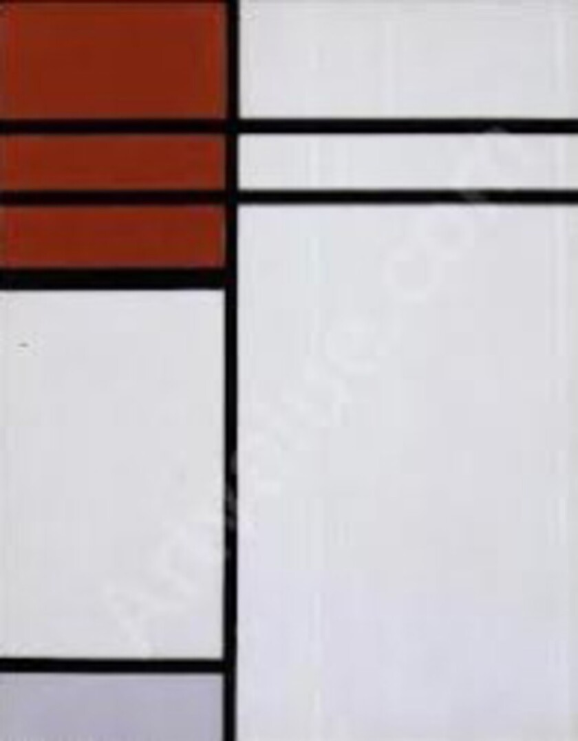 """Bond trader Jeffrey Gundlach had offered $1 million for the return of Piet Mondrian's 1936 """"Composition (A) En Rouge Et Blanc,"""" stolen from his home in September 2012."""