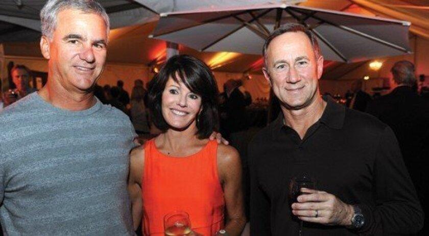 Bob Burke, Liz Burke, Mike Orlando (Photo: Jon Clark)