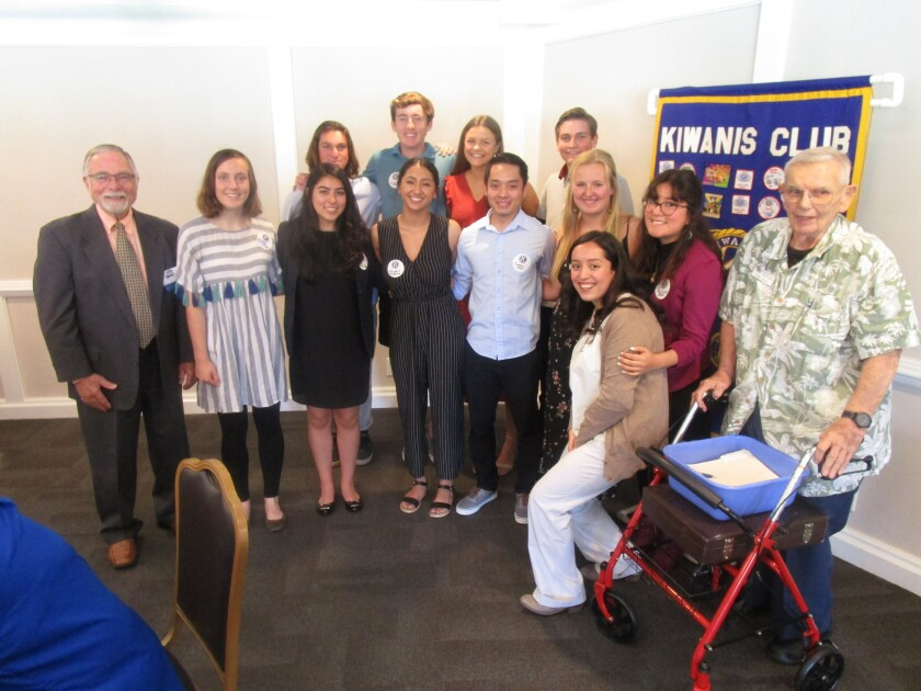 The Kiwanis Club of Lake San Marcos recently awarded scholarships to nearly two dozen students.