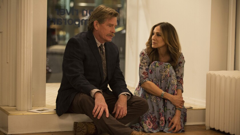 "Thomas Haden Church and Sarah Jessica Parker are a couple uncoupling in the new HBO series ""Divorce."""
