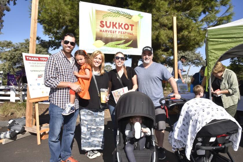 Josh and Jessica Rubin with Juliana, Laurel and Darren Saul