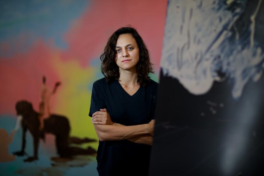 Tala Madani in her studio