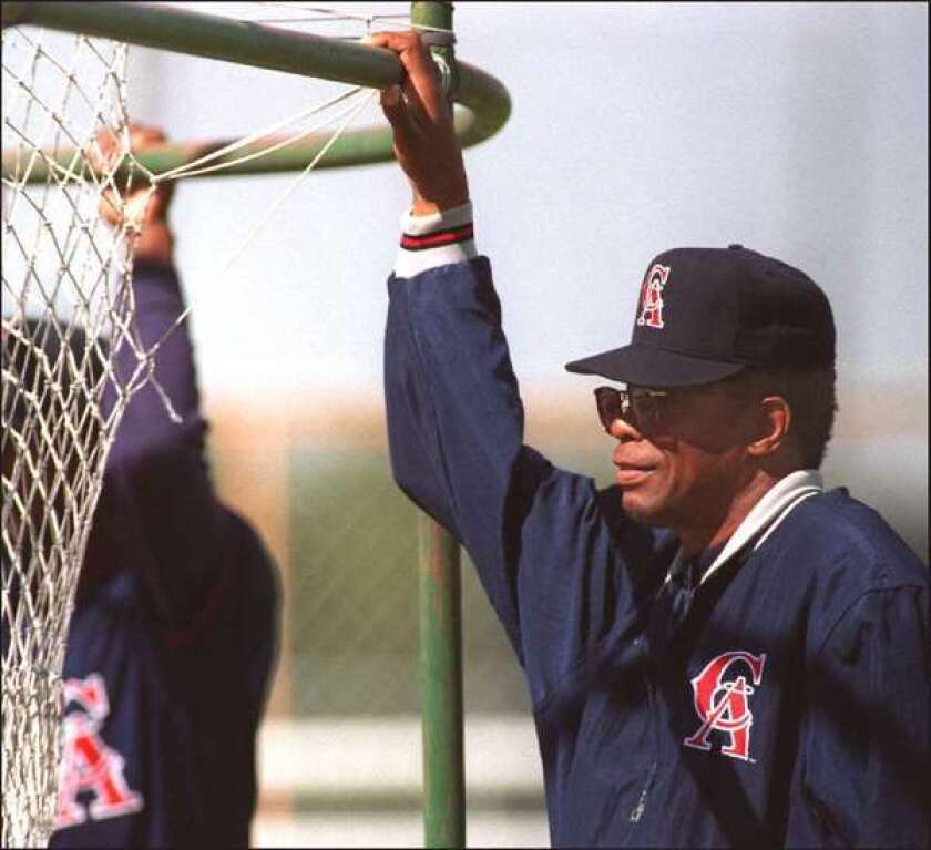 Rod Carew played for the Angels for seven seasons, and later was a coach for the team.