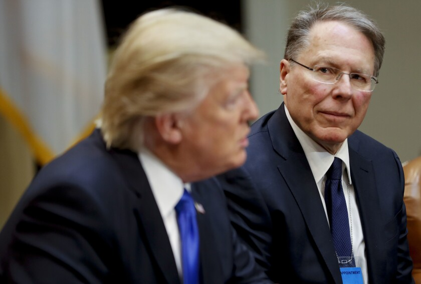 National Rifle Associations Executive Vice President and Chief Executive Officer Wayne LaPierre  and President Trump