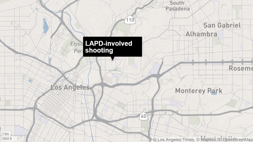 Police fatally shot a man Tuesday in Lincoln Heights after he charged at officers with a hunting knife, authorities said.