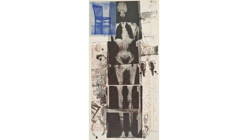 """Robert Rauschenberg's 6-foot-tall """"Booster,"""" printed at Gemini in 1967."""