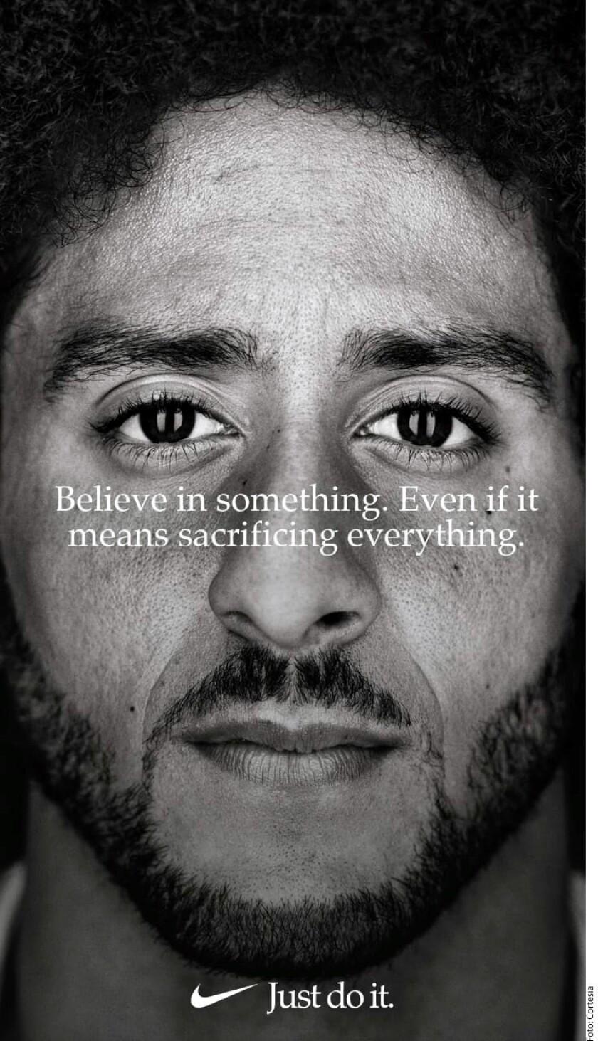 Colin Kaepernick en el anuncio de Nike.
