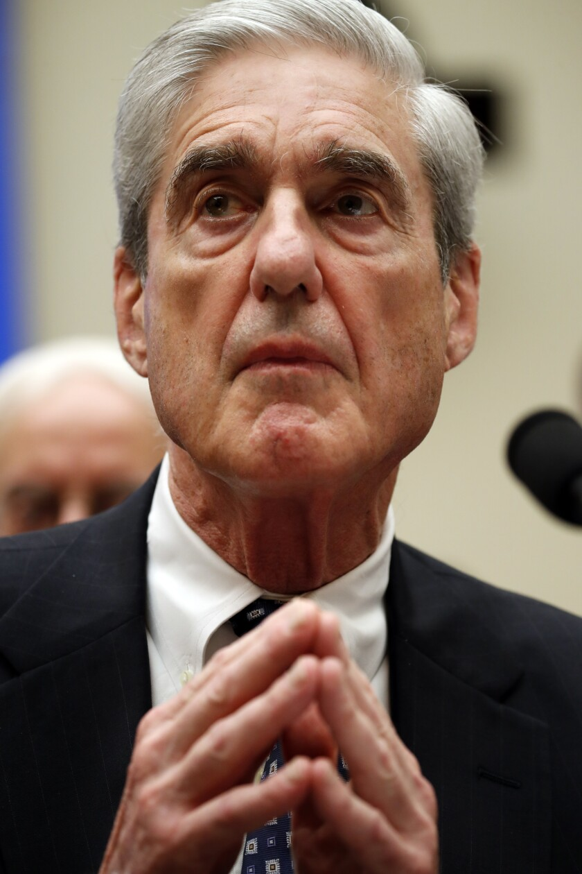 Former special counsel Robert S. Mueller III testified before the House Intelligence Committee on Wednesday.
