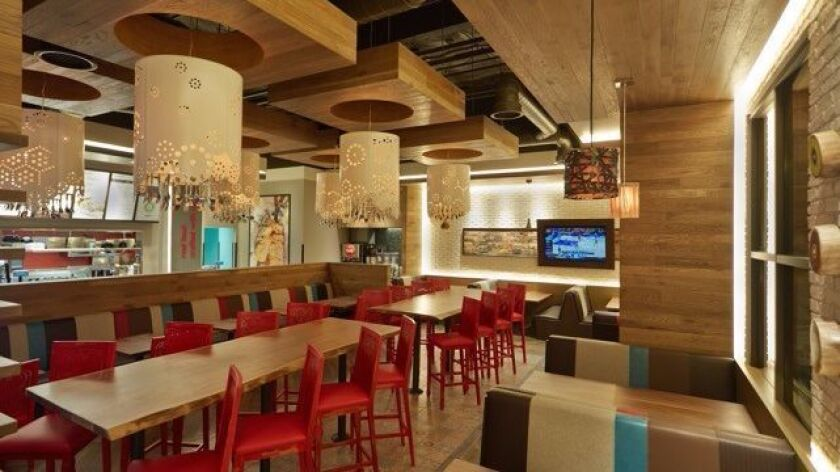The inside of a Luna Grill restaurant in La Cañada Flintridge.
