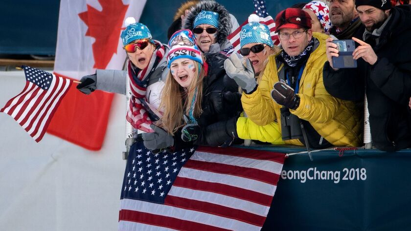 Jessie Diggins finishes fifth in Olympic skiathlon