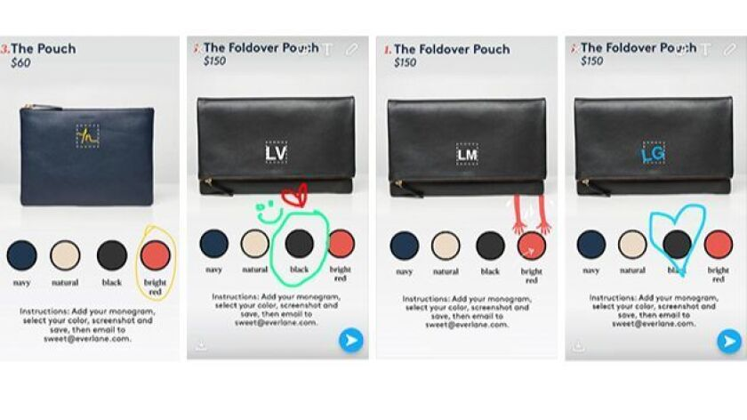 Sweet and Everlane asked users to submit screencaps of monogrammed bags.