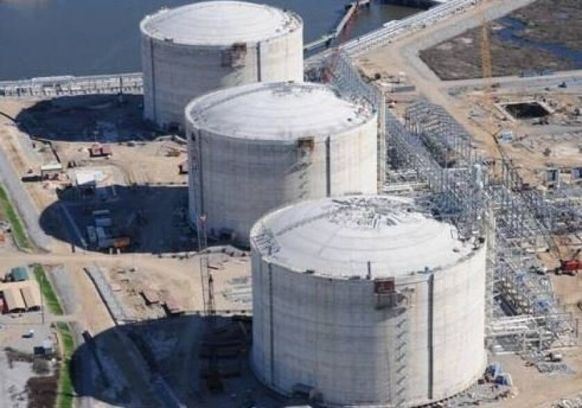 Construction of Sempra Energy's Cameron LNG facility in Hackberry, La.