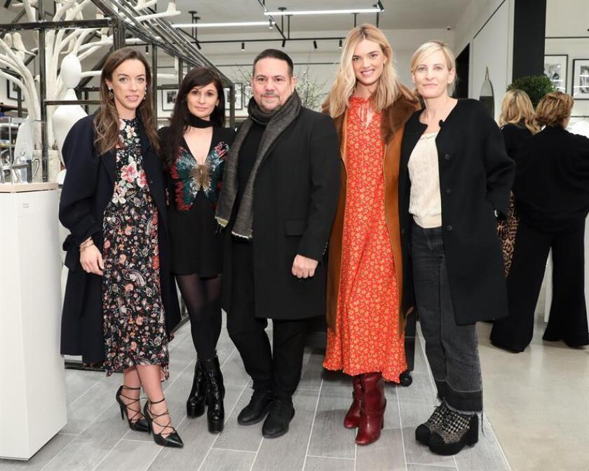 Photograph released on March 13, 2019, by BFA on March 12, 2019, the day Cuban-born fashion designer Narciso Rodríguez appears while posing with Laura Paterson (L), Julia Haart (2L), Allie Michler (2R), and Wednesday Martins (R), during the opening of the exclusive New York store The Conservatory, located in the real estate project of the moment, Hudson Yards, in New York (USA). EPA-EFE / Samantha Nandez / Courtesy of BFA / EDITORIAL USE ONLY / NO SALES