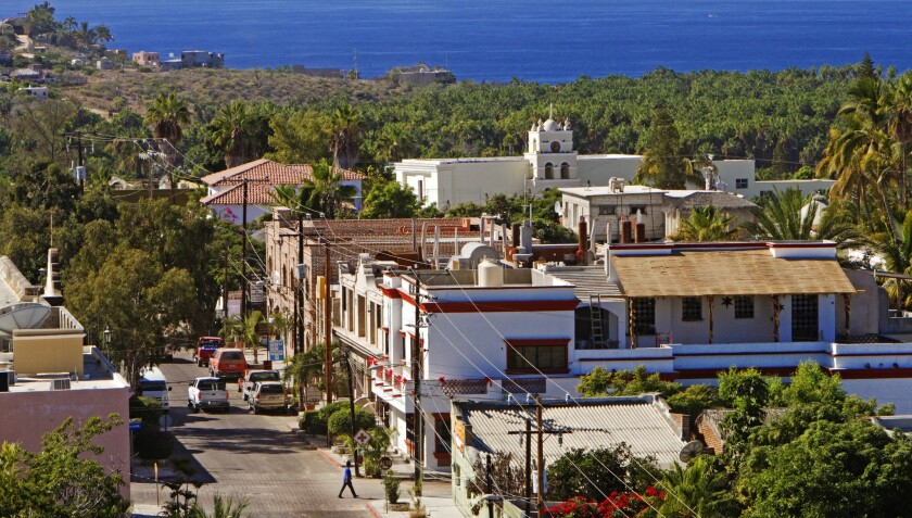 The small beach resort town of Todos Santos.