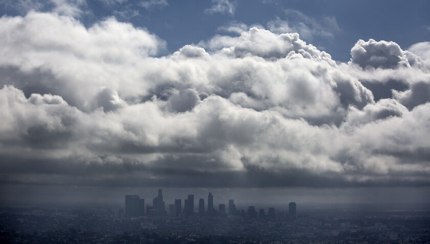 Cold, windy weather moves through Southern California