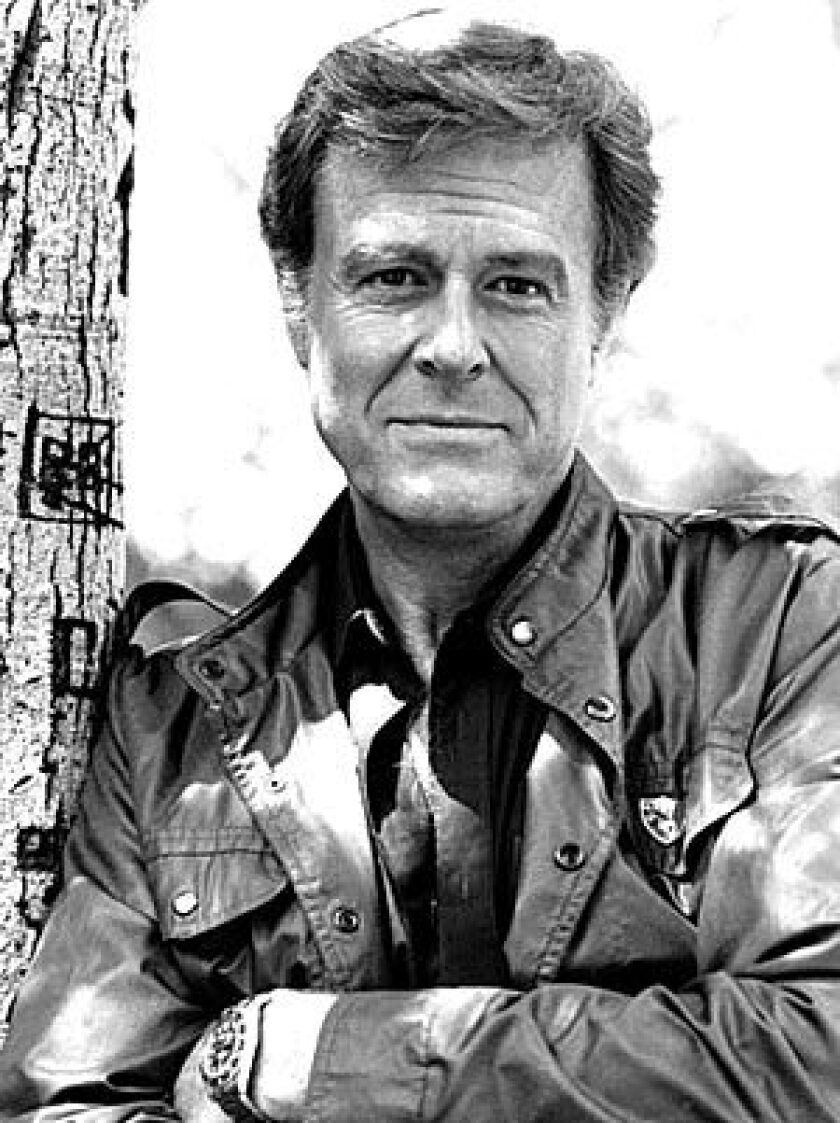 "Robert Culp takes a break while filming his TV show ""The Greatest American Hero"" in 1981. He played FBI Agent Bill Maxwell on the series, which ran on ABC from 1981 to 1983."