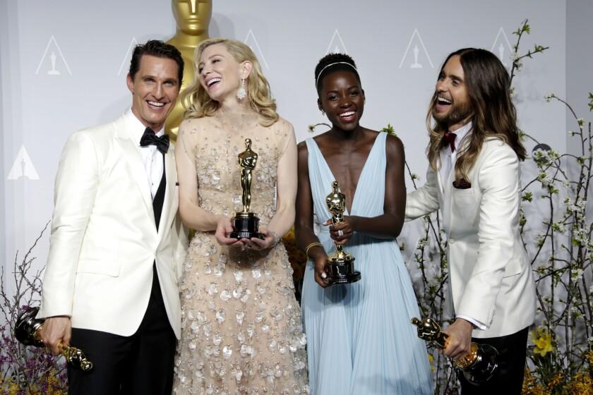 Oscars 2014 winners' room