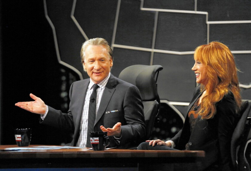 Bill Maher and comedian Kathy Griffin on 'Real Time with Bill Maher.'
