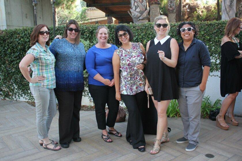 Event guests Leslie Costi, Carrie Byrd, Kim McGoldrick, Donna Shabkie, Bibiana Kurta and Romie Apostol