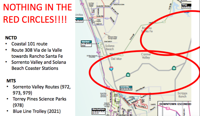 Locals lead effort to bring public transit back to Carmel ... on sd coaster map, sd trolley orange line, sd trolley stops near airport, san juan bus route map,