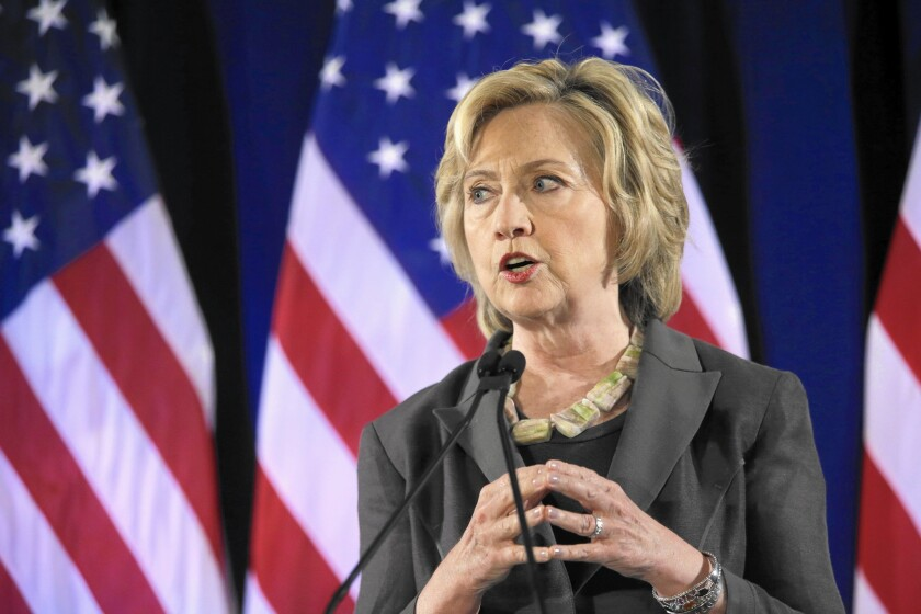 """Hillary Rodham Clinton has taken a more personal approach than in her 2008 campaign. During an economic speech on July 24 in New York, she recalled """"watching my father sweat over the printing table in his small fabric shop in Chicago."""""""