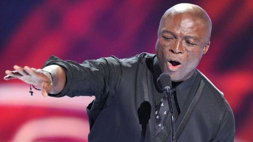 """On Saturday, four-time Grammy Award-winning singer Seal headlined the second night of the grand opening weekend of the La Jolla Music Society's new Conrad Prebys Performing Arts Center. He is shown above at a """"People's Choice Awards"""" telecast performance."""