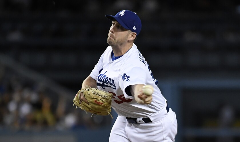Dodgers reliever Adam Kolarek has performed well in his short time with the team.