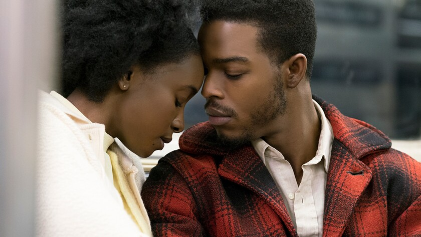 """KiKi Layne, left, and Stephan James in the movie """"If Beale Street Could Talk."""""""