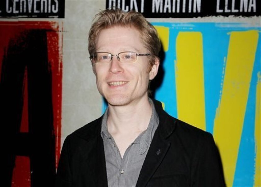 "FILE - In this April 5, 2012 file photo, actor Anthony Rapp attends the Broadway opening of ""Evita,"" in New York. Rapp has joined ""If/Then,"" the new musical led by Idina Menzel from the creative team behind ""Next to Normal."" Previews begin March 4 at the Richard Rodgers Theatre. Opening night is set for March 27. (AP Photo/Starpix, Amanda Schwab, File)"