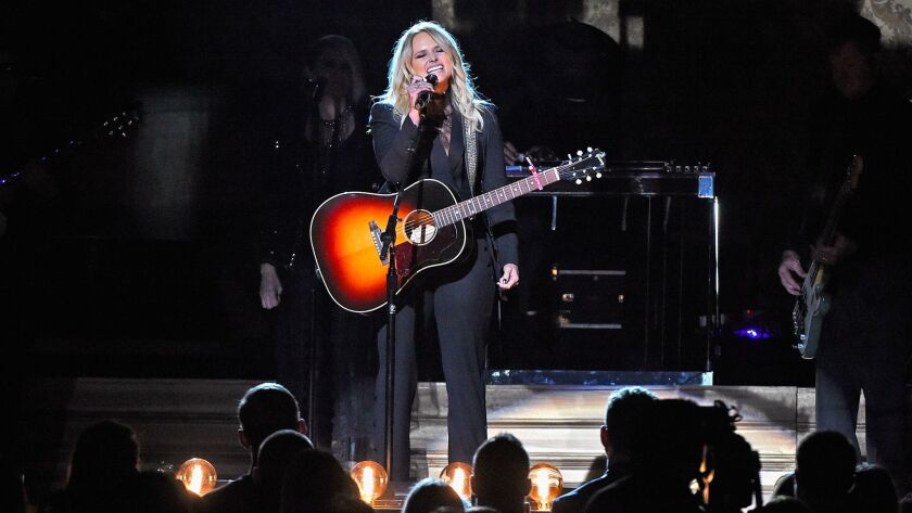 Miranda Lambert performs this month during the CMA Awards in Nashville.