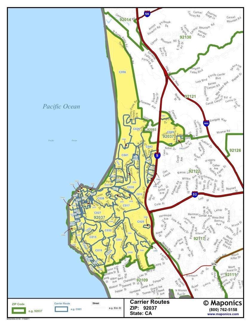 Proposed boundaries for City of La Jolla. COURTESY