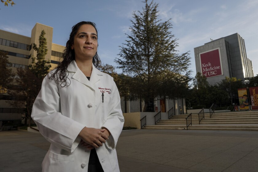Dr. Meena Zareh, a former cardiology fellow at L.A. County-USC Medical Center, alleged in a lawsuit that she was sexually assaulted by another physician at the hospital in 2015.