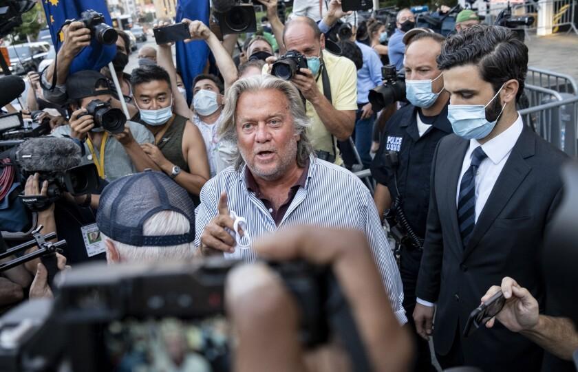 Steve Bannon leaves federal court Thursday
