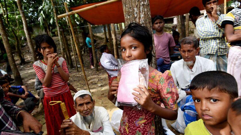 Rohingya refugees, Cox's Bazar, Bangladesh - 19 Dec 2017
