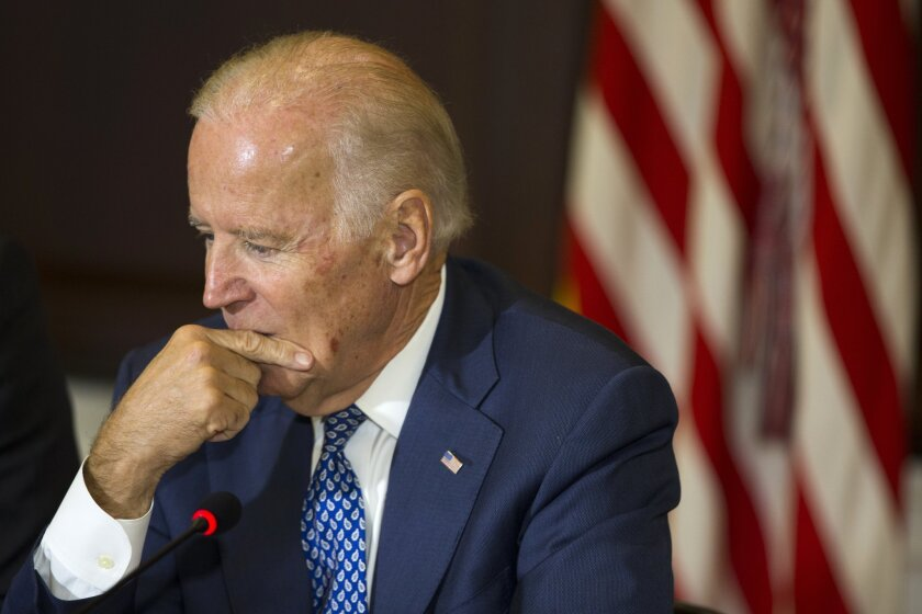 Former Vice President Joe Biden. He was challenged again in Thursday's debate about President Obama's deportation policies.