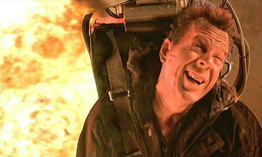 "Bruce Willis in the 1990 sequel ""Die Hard 2."""