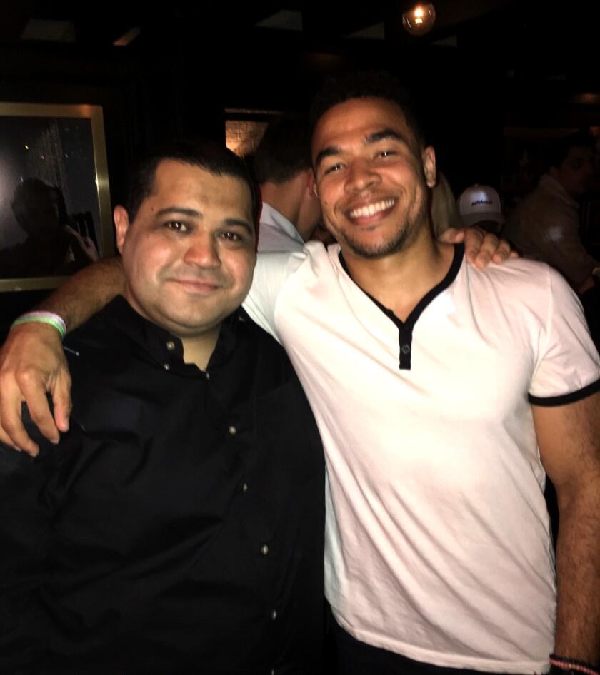 Times columnist Arash Markazi with former ESPN colleague and friend Edward Aschoff.