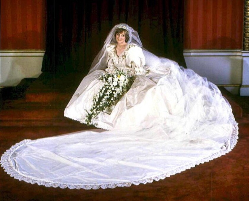 Diana, Princess of Wales, on her wedding day in 1981.