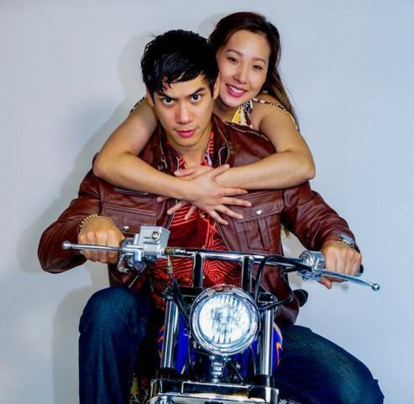 Ben Levin is Quang and Katherine Ko is Tong in 'Vietgone,' onstage through Feb. 18, 2018 at San Diego Repertory Theatre in downtown San Diego.