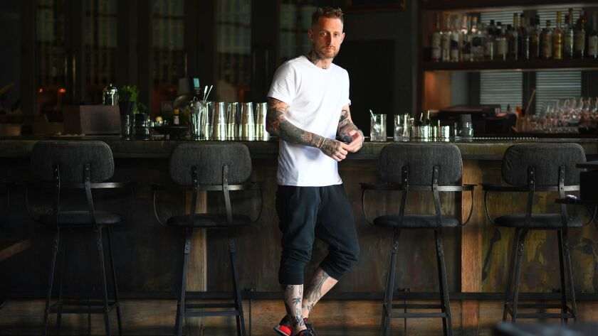 Chef Michael Voltaggio at his soon-to-close restaurant Ink.