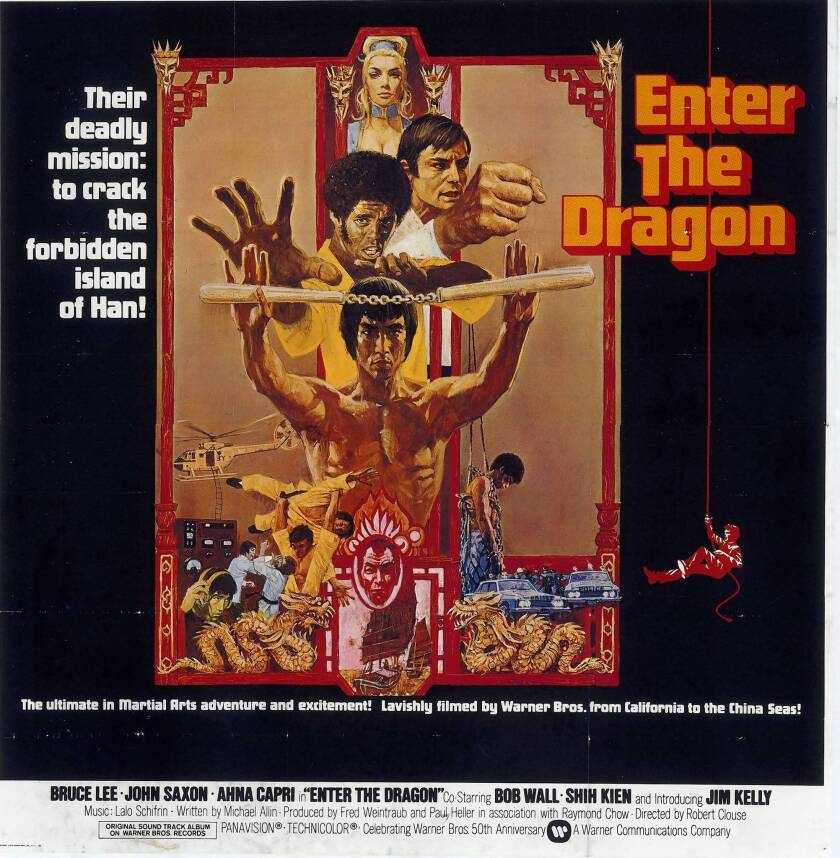 """""""Enter the Dragon"""" (1973) stars Bruce Lee as a master martial artist who wants revenge on the gang that killed his sister."""