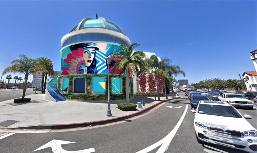 A rendering of an LED billboard proposed for 19th Street and Newport Boulevard, at Costa Mesa's Triangle Square.
