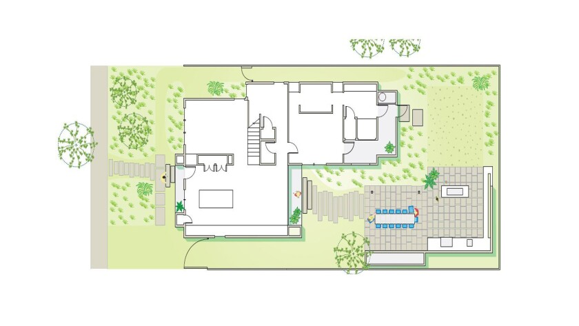 The plan for the Wilborn-Riley Culver City home